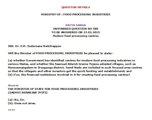 Modern food processing centres