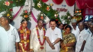 BLESSING THE COUPLE AT KOVILOOR 1