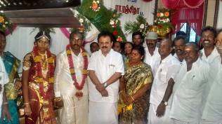 BLESSING THE COUPLE AT KOVILOOR
