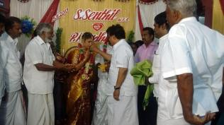 BLESSING THE COUPLE AT MADURAI 1