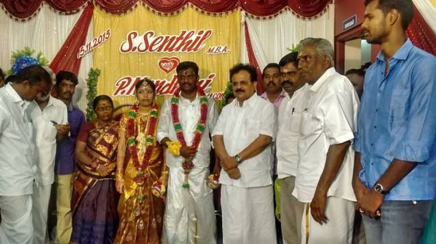 BLESSING THE COUPLE AT MADURAI 3