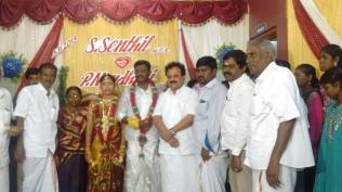 BLESSING THE COUPLE AT MADURAI