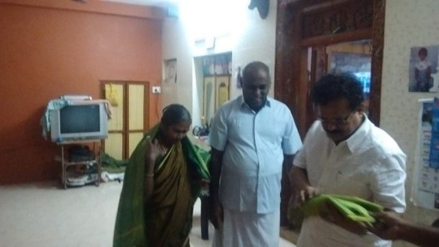 GREETING MR.GANDHI&HIS WIFE, THE COUPLE CELEBRATED 60TH BIRTHDAY AT KOTHAMANGALAM