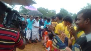 GREETING THE FOOTBALL PLAYERS AT KANDANOOR