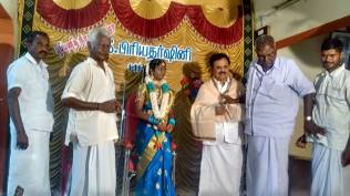 IN THE PUBERTY CEREMONY OF GRAND DAUGHTER OF CONGRESS LEADER AT THIRUPPUVANAM