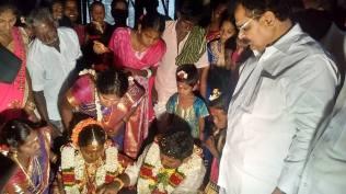 PRESIDING THE MARRIAGE FUNCTION AT MANAIKOLI AMMAN TEMPLE