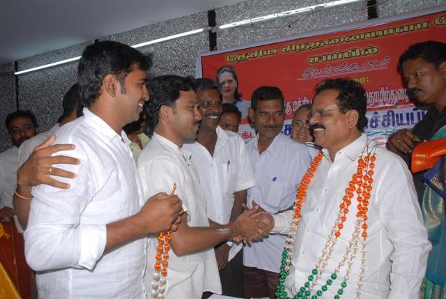 RECEPTION BY CONGRESS WORKERS AT CHENNAI
