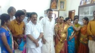 WITH THE THE NEWLY MARRIED COUPLE AT KARAIKUDI