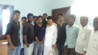 WITH YOUTH CONGRESS VOLUTEERS AT MADURAI
