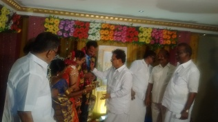 BLESSING MARRIAGE COUPLE AT MANAMADURAI (1)